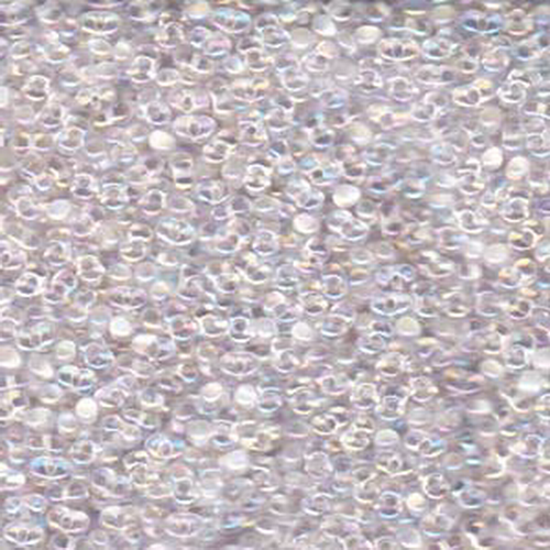 Matsuno Peanut Beads 2x4mm (P1436) Inside Color Clear White Rainbow