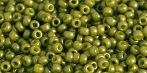 TOHO Rocailles 11/0 (#1624F) Opaque-Frosted Pea Green Soup