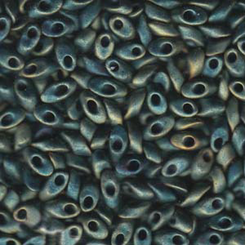 Miyuki Long Magatama (#2008) Matte Metallic Patina Iris