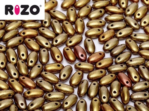 Rizo Beads 2,5x6mm Metallic Mix