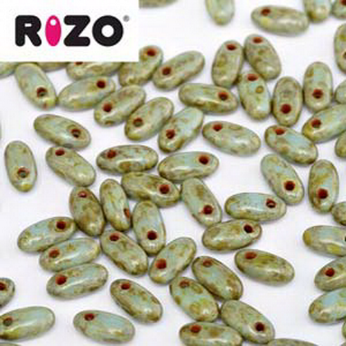 Rizo Beads 2,5x6mm Turquoise Dark Travertin