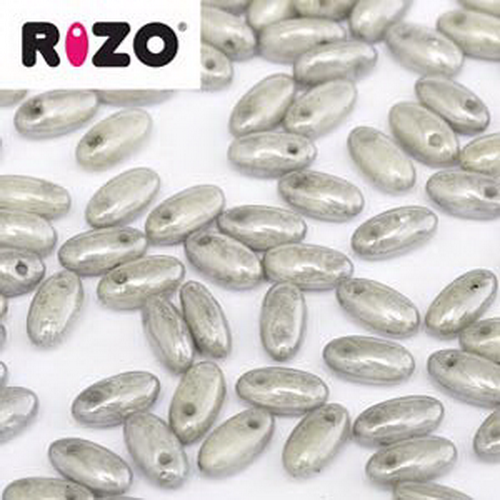 Rizo Beads 2,5x6mm Grey Luster