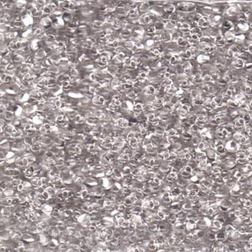 Matsuno Peanut Beads 2x4mm (P1034) Clear Silver