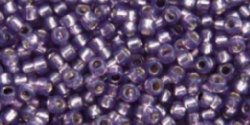 TOHO Rocailles 15/0 (#2124) Silver-Lined Milky Lavender