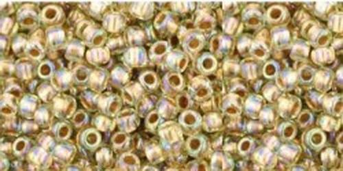 TOHO Rocailles 15/0 (#998) Gold-Lined Rainbow Lt Jonquil