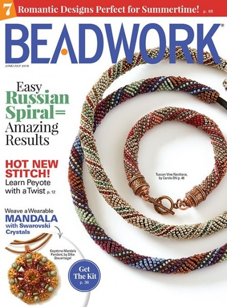 Beadwork Magazine June/July 2018