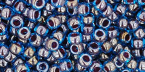 TOHO Rocailles 8/0 (#294) Inside-Color Blue Raspberry