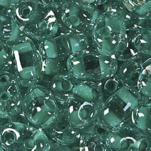 Twin Beads 2,5x5mm (#38658) Crystal Green Color Lined