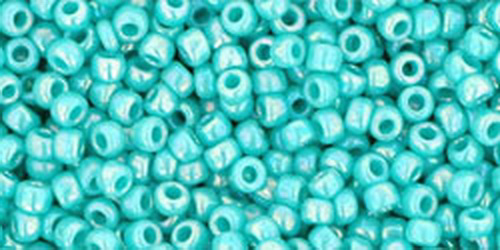 TOHO Rocailles 15/0 (#413) Opaque-Rainbow Turquoise