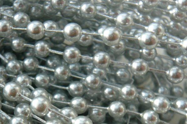 Glaswachsperlen 4mm Hellgrau, ca 50 St.