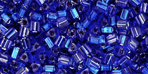 TOHO Triangle 11/0 (#28D) Dark Cobalt Blue Silver Lined