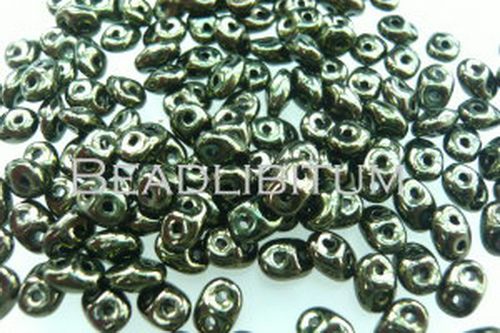 SuperDuos 2x5 mm Black Green Luster