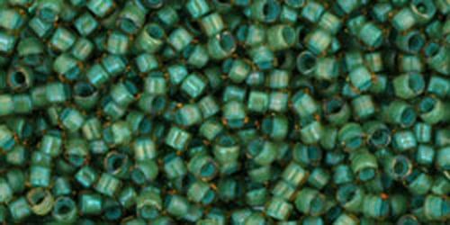 TOHO Treasures 11/0 (#952) Inside-Color Rainbow Lt Topaz/Sea Foam Lined