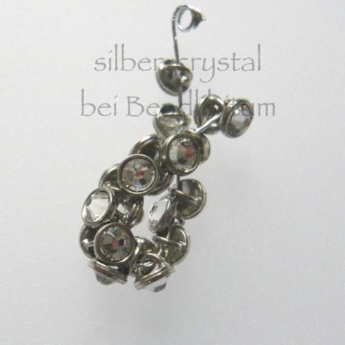 CRYSTALETTS 3mm Swarovski Crystal / Silber Rhodiniert