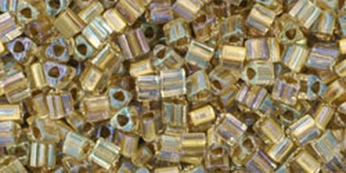 TOHO Triangle 11/0 (#262) Inside-Color Crystal/Gold Lined