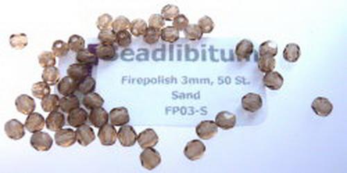 Firepolish 3mm Sand, 50 St.