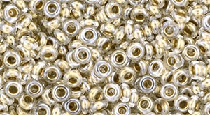 TOHO Demi Round 8/0 3mm (#989) Gold-Lined Crystal
