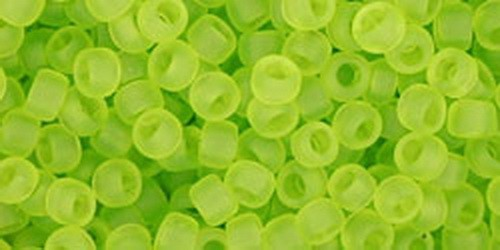TOHO Rocailles 8/0 (#4F) Transparent-Frosted Lime Green