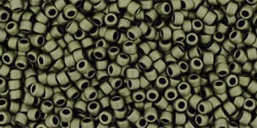TOHO Rocailles 15/0 (#617) Matte-Color Dark Olive