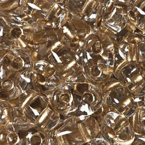 Twin Beads 2,5x5mm (#68106) Crystal Bronze Lined