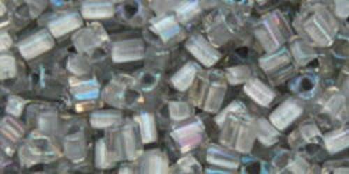 TOHO Triangle 11/0 (#261) Inside-Color Rainbow Crystal/Gray Lined