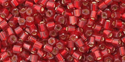 TOHO Hexcut 11/0 (#25C) Silver-Lined Ruby
