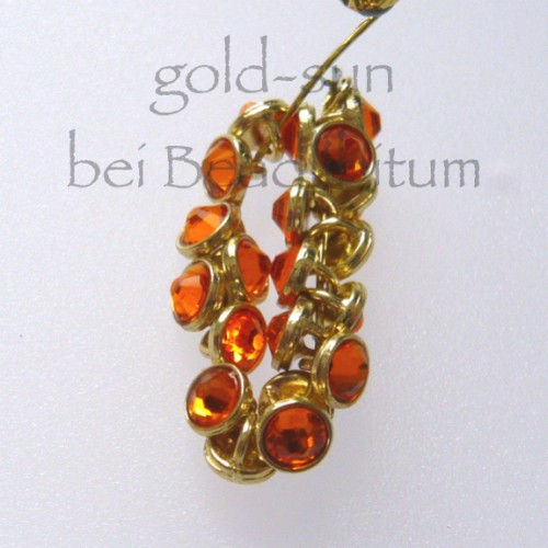CRYSTALETTS 3mm Swarovski Sun Crystal / Gold