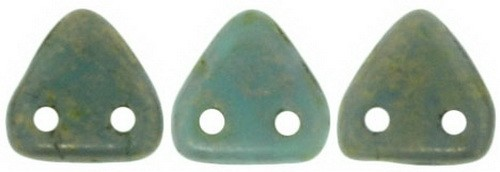 CzechMates Triangle 6mm Turquoise - Copper Picasso