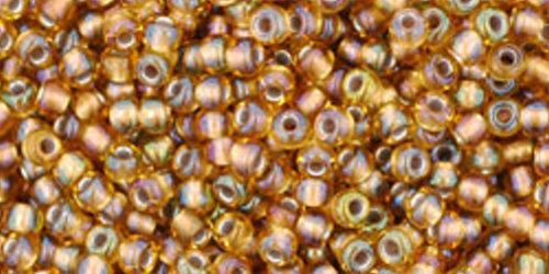 TOHO Rocailles 11/0 (#278) Gold-Lined Rainbow Topaz