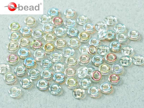 O-Beads 2x4 mm Crystal Green Rainbow