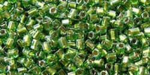 TOHO Hexcut 8/0 (#1007) Gold Lined Olive Lustre