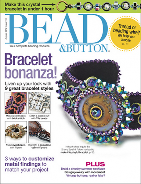 Bead & Button Magazine August 2012