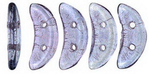 CzechMates Crescent 3x10mm Luster - Transparent Amethyst