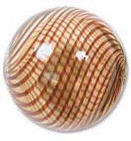 Venezianische Hohlperle Amber Brown, 20 mm rund