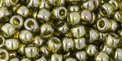 TOHO Rocailles 6/0 (#457) Gold-Lustered Green Tea