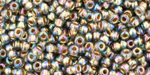 TOHO Rocailles 11/0 (#999) Gold-Lined Rainbow Black Diamond