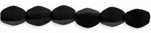 Pinch Beads 5x3mm Matte Jet, 50 St.