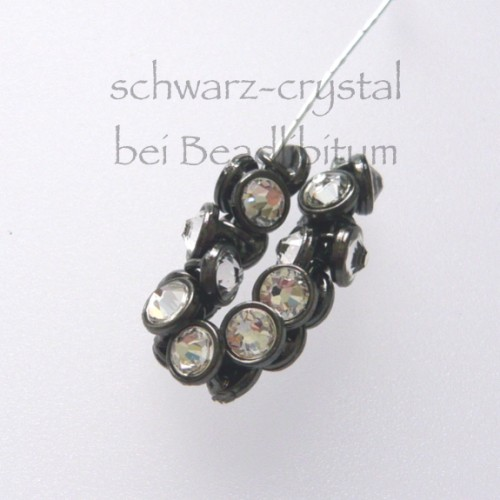 CRYSTALETTS 3mm Swarovski Crystal / Schwarz Rhodiniert