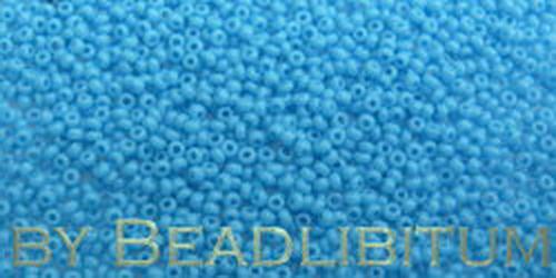 Tschechische Rocailles 16/0 Aquamarin Opal, 10g