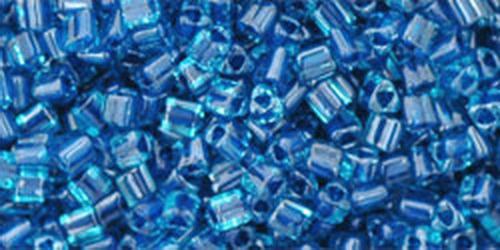 TOHO Triangle 11/0 (#932) Inside-Color Aqua/Capri Lined