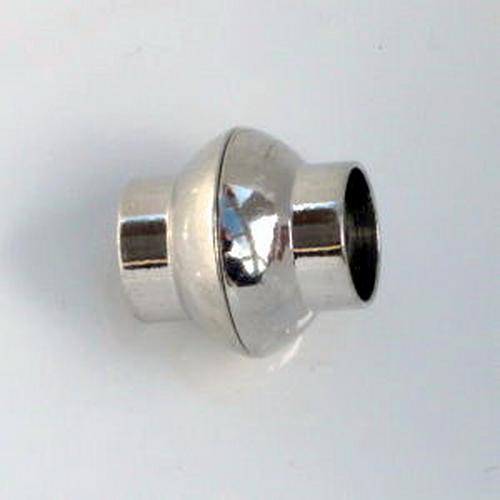 Magnetverschluß Linse 8mm Rhodium