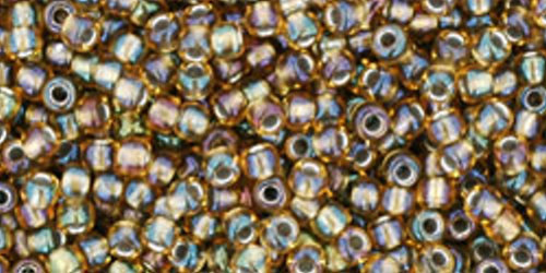TOHO Rocailles 11/0 (#281) Inside-Color Rainbow Topaz/Olivine Lined