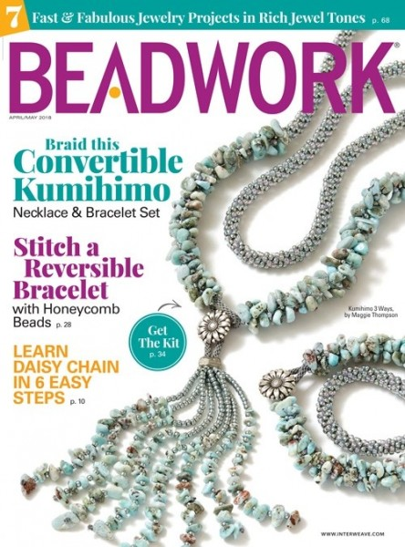 Beadwork Magazine April/May 2018