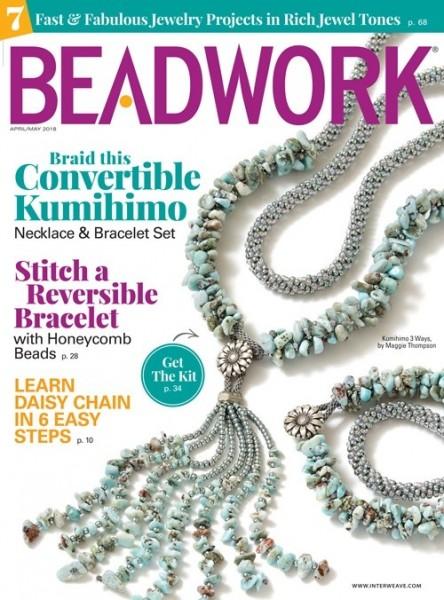 Beadwork Magazine April/May 2018