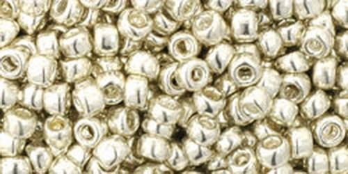 TOHO Rocailles 8/0 (#558) Galvanized Aluminum