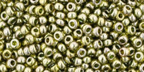 TOHO Rocailles 11/0 (#457) Gold-Lustered Green Tea