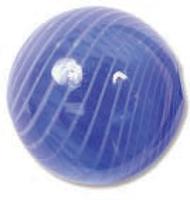 Venezianische Hohlperle Dark Blue/White, 20 mm rund