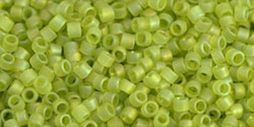 TOHO Treasures 11/0 (#164F) Trans-Rainbow-Frosted Lime Green
