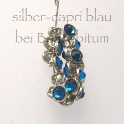 CRYSTALETTS 3mm Swarovski Xirius Capri Blue / Silber Rhodiniert