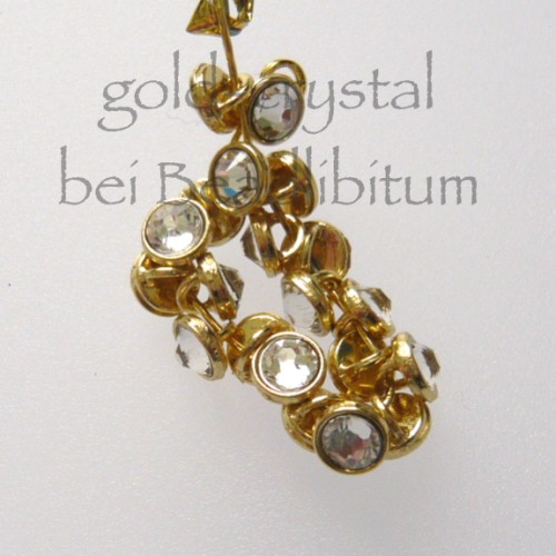 CRYSTALETTS 3mm Swarovski Crystal / Gold